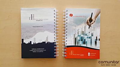 Agenda cuaderno personalizada carátulas