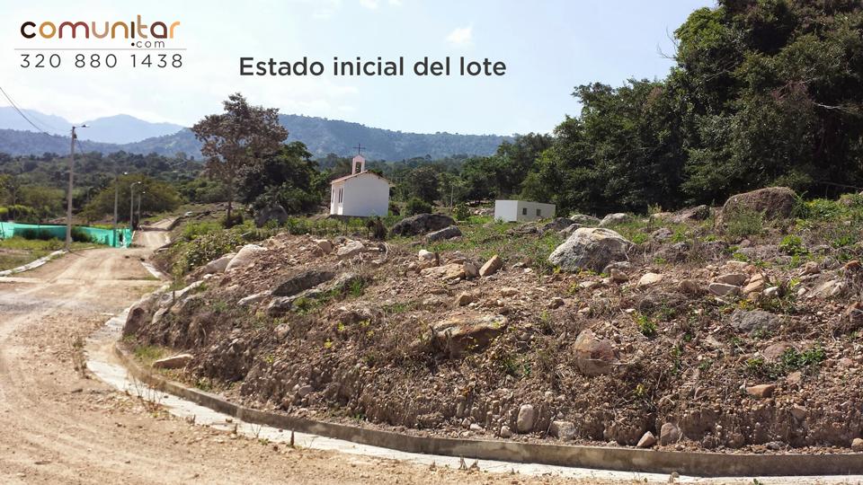 Estado inicial del lote ubicado en la vereda la trinidad del municipio de la mesa