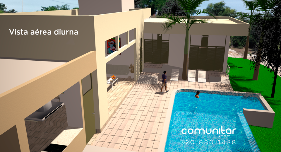vista aerea diurna casa en condominio en el municipio de la mesa cundinamarca