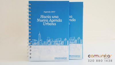 diseño de portada agenda onu habitat