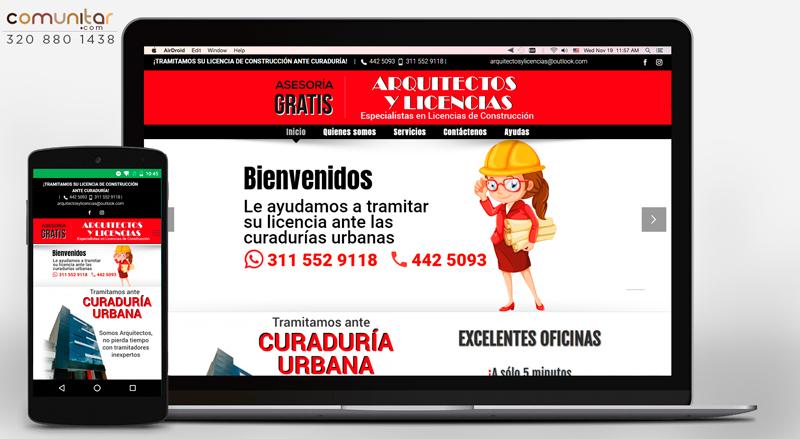sitio web multidispsitivo para firma de arquitectos