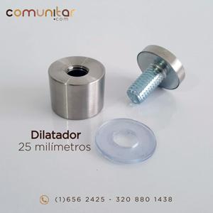 dilatador o distanciador metálico de 25 mm abierto