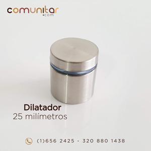 dilatador o distanciador metálico de 25 mm cerrado