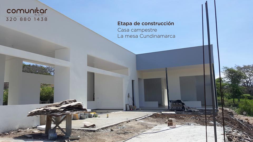 proceso de construcción casa de campo en la mesa cundinamarca