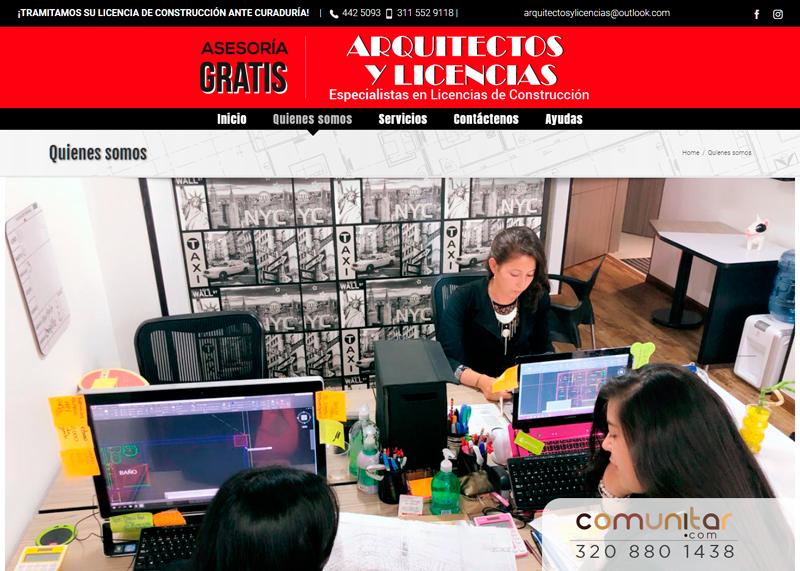pagina web para firma de arquitectos quienes somos
