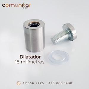 dilatador o distanciador metálico de 18 mm abierto
