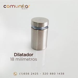 dilatador o distanciador metálico de 18 mm cerrado