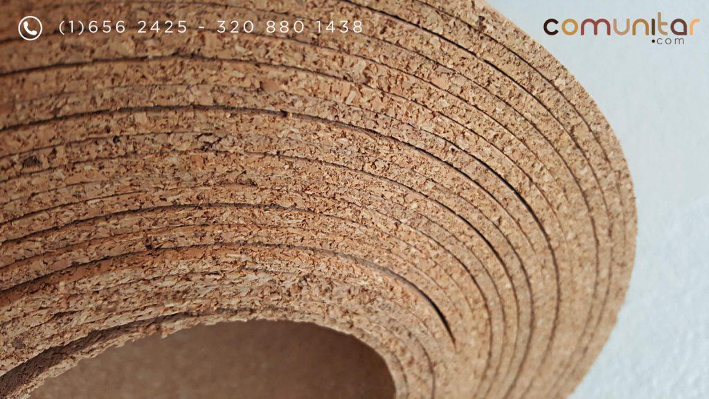 rollo de corcho natural de 30 metros, de 4mm de grosos por 120 cms de ancho