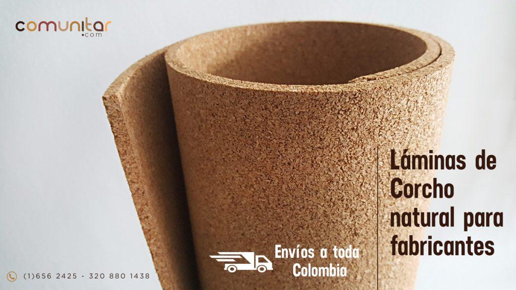 Láminas de corcho natural para fabricantes en toda colombia