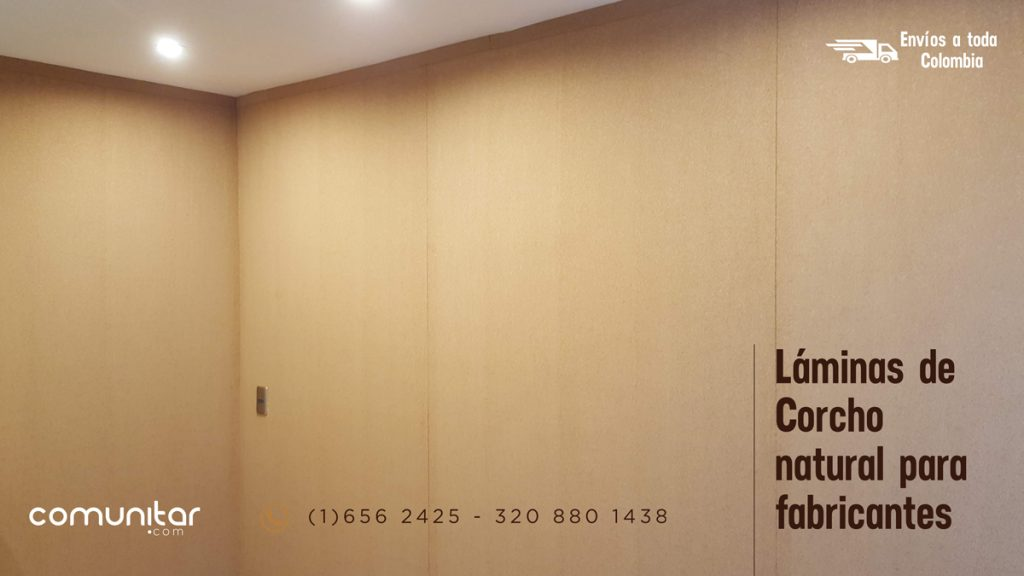 láminas de corcho para elaborar muros en corcho para fijar información con chinches o pines