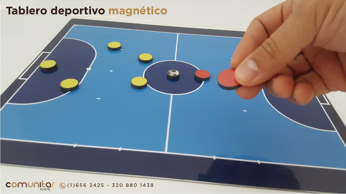 Tablero táctico deportivo en lamina magnética