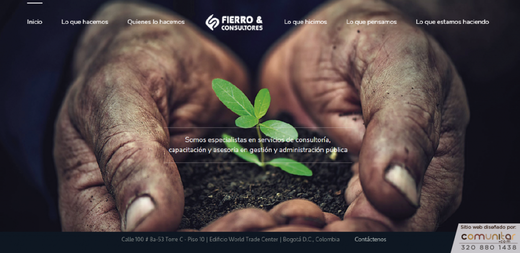 Sitio web para Fierro Consultores creado por Comunitar