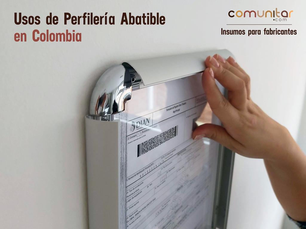 principales usos de la perfilería abatible en colombia